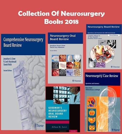 Collection Of Neurosurgery Books 2018