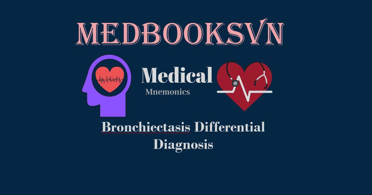 Bronchiectasis Differential Diagnosis