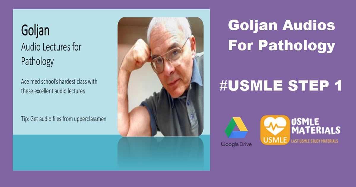 Goljan Audios For Pathology MP3 | Free Medical Books