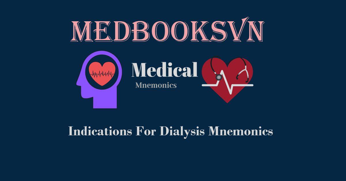 Indications For Dialysis Mnemonics