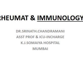 Rheumatology And IMMUNOLOGY Notes [PDF] By Dr. Srinath.Chandramani