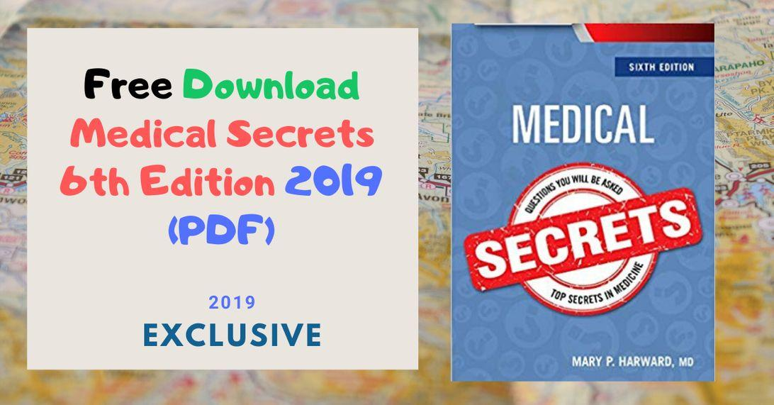 Free Download Medical Secrets 6th Edition 2019 PDF
