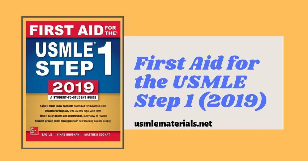 First Aid Step 1 2019 Direct PDF Link - USMLE Step 1