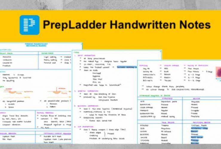 Download All PrepLadder Handwritten Study Notes 2019