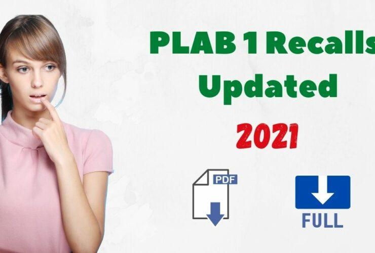 PLAB 1 Recalls Updated Free 2021