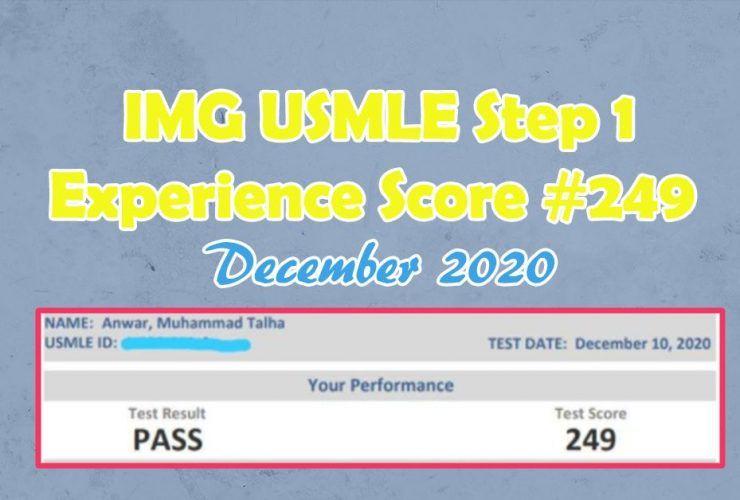 IMG USMLE Step 1 Experience {Score #249} December 2020
