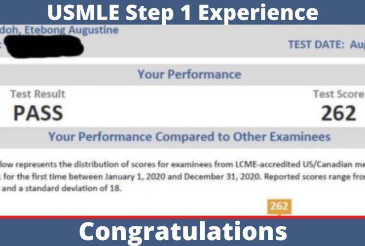 2021 IMG USMLE Step 1 Experience Score 262